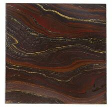 "4"" Tiger Iron Stromatolite ""Shower Tile"" - 2.7 Billion Years Old For Sale, #48812"