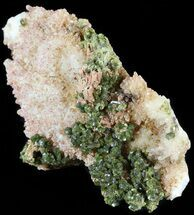 "4.1"" Lustrous, Epidote Crystal Cluster with Quartz - Morocco For Sale, #49418"