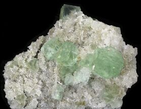 Buy Sea Green Fluorite on Quartz - China - #32491