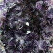 "6.3"" Dark Purple Amethyst Cluster On Wood Base - #50170-2"