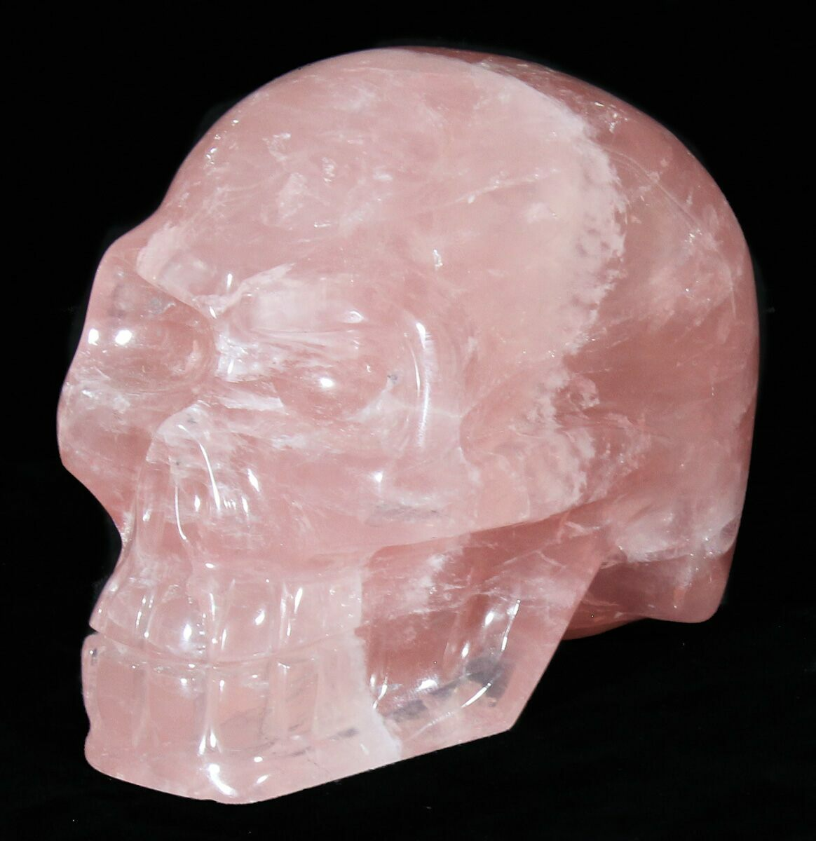 "4.3"" Polished Brazilian Rose Quartz Crystal Skull"
