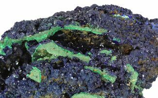 Azurite & Malachite - Fossils For Sale - #50778