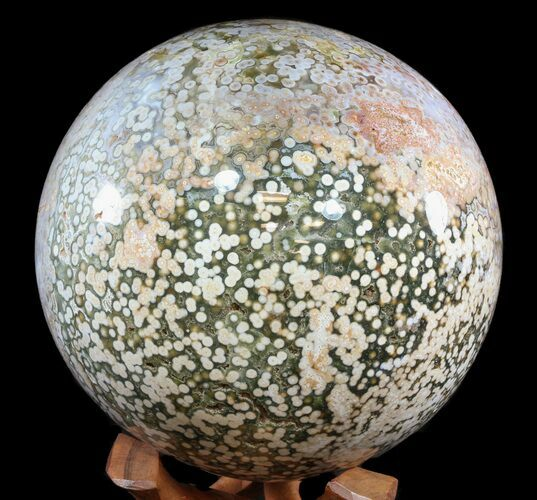 "9.4"" Awe Inspiring Ocean Jasper Sphere - 42.5 lbs (reduced price)"