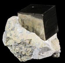 "Buy .82"" Pyrite Cube In Matrix - Navajun, Spain - #51226"