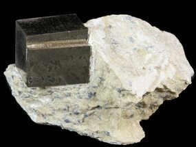 "Buy .71"" Natural Pyrite Cube In Matrix - Spain - #51232"