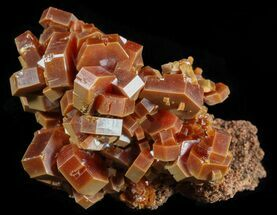 "Buy 1.5"" Red & Brown Vanadinite Crystals on Matrix - Morocco - #51307"