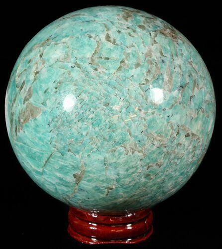 "3.2"" Polished Amazonite Crystal Sphere - Madagascar"
