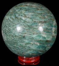 "Buy 3.4"" Polished Amazonite Crystal Sphere - Madagascar - #51628"