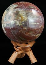 "5.3"" Colorful Petrified Wood Sphere - Madagascar For Sale, #52442"