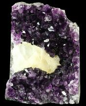 "Buy 8"" Dark Amethyst Cut Base Cluster With Honey Calcite - #52591"