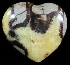 "3.5"" Polished Septarian Heart For Sale, #54701"