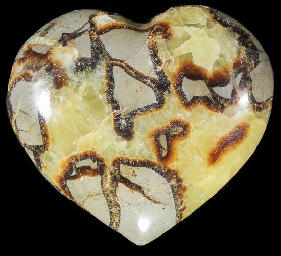 "3.9"" Polished Septarian ""Heart"""