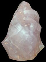 "4.9"" Tall Polished Rose Quartz ""Flame"" Sculpture  For Sale, #54947"