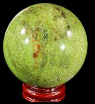 "2.6"" Polished Green Opal Sphere - Madagascar For Sale, #55058"