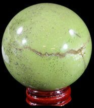 "2.6"" Polished Green Opal Sphere - Madagascar For Sale, #55070"