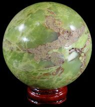 "2.5"" Polished Green Opal Sphere - Madagascar For Sale, #55073"