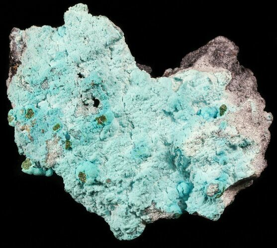 "3.8"" Light Blue Chrysocolla and Drusy Malachite - Congo"