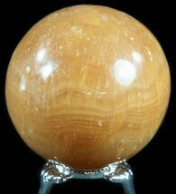 "2.2"" Polished, Orange Calcite Sphere - Madagascar For Sale, #55097"