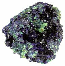 "2.1"" Sparkling Azurite Crystal Cluster with Malachite - Laos For Sale, #56051"