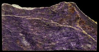 "Buy 6.8"" Beautiful, Purple, Polished Charoite Slab - Siberia - #56371"