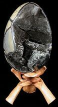 "Buy 7.6"" Septarian ""Dragon Egg"" Geode - Black Crystals - #56395"