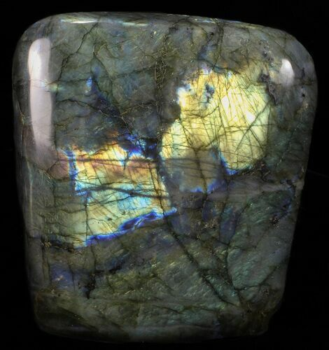 "6"" Tall, Flashy Polished Free Form Labradorite"