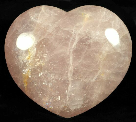 "4.7"" Polished Rose Quartz Heart - Madagascar"
