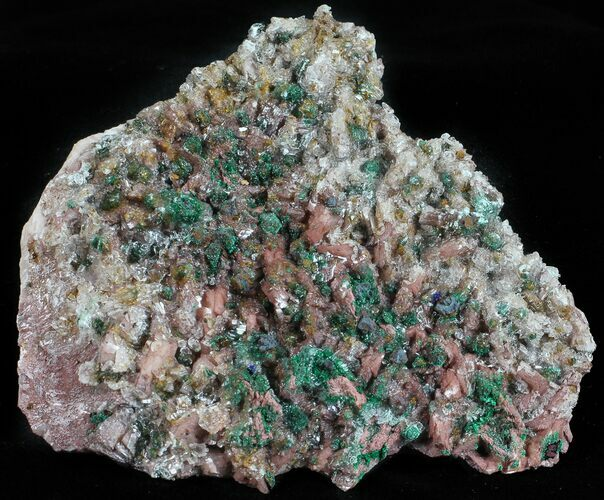 "3.3"" Malachite, Selenite and Ferroan Dolomite Association - Morocco"