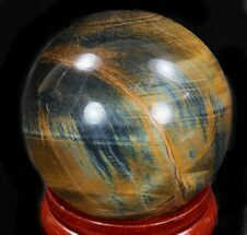 "Buy 2.45"" Polished Tiger's Eye Sphere - #33634"