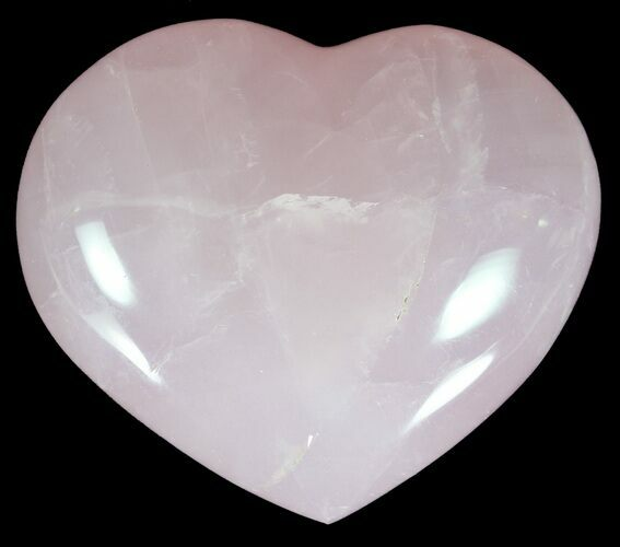 "3.3"" Polished Rose Quartz Heart - Madagascar"