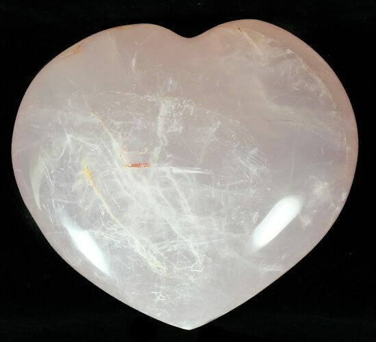 "3.8"" Polished Rose Quartz Heart - Madagascar"
