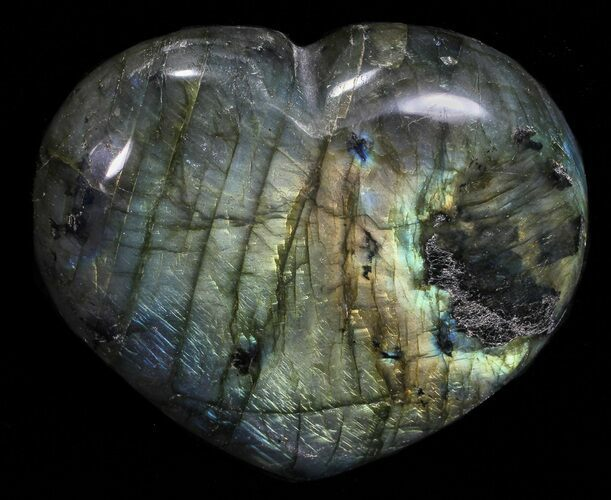 "3"" Flashy Polished Labradorite Heart"