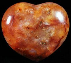 "Buy 2.5"" Colorful Carnelian Agate Heart - #59560"