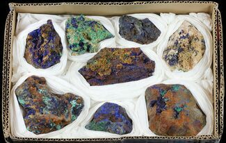 Azurite & Malachite - Fossils For Sale - #59952