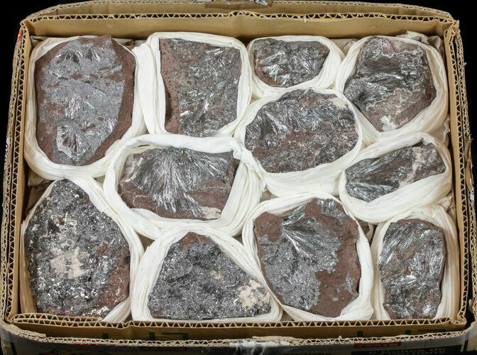 Metallic Pyrolusite on Matrix Wholesale Lot - 11 Pieces
