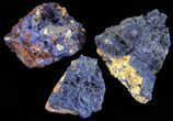 Vibrant Azurite From Morocco Wholesale Lot - 8 Specimens - #60049-1