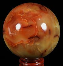 "2.5"" Colorful Carnelian Agate Sphere - Madagascar For Sale, #60524"