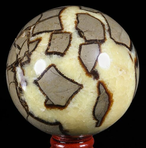 "3.3"" Polished Septarian Sphere - Madagascar"