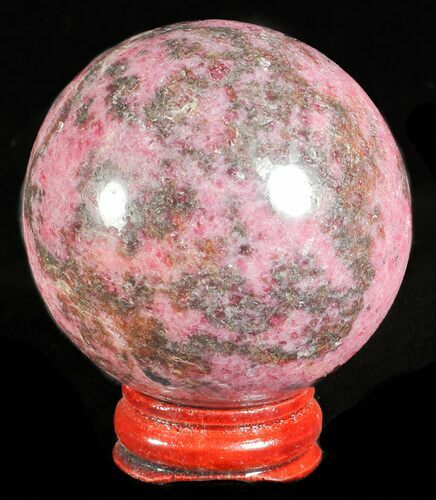 "2.1"" Polished Rhodonite Sphere - Madagascar"