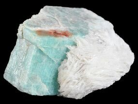 "1.7"" Amazonite Crystal with Bladed Cleavelandite - Colorado For Sale, #61382"