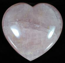 "Buy 4.5"" Polished Rose Quartz Heart - Madagascar - #63010"