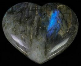 "Buy 4.3"" Flashy Polished Labradorite Heart - #62953"