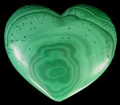 "Buy 1.1"" Polished Malachite Heart - Congo - #63202"