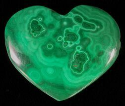 "Buy 1.1"" Polished Malachite Heart - Congo - #63190"