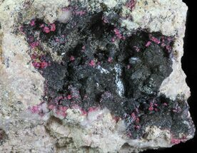 Roselite, Goethite & Calcite - Fossils For Sale - #61203