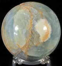 "3"" Polished Blue Onyx Sphere - Argentina For Sale, #63257"