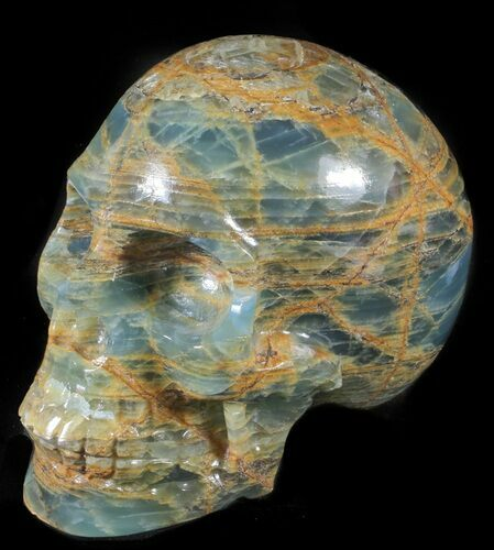 "5.8"" Carved, Blue Onyx Skull - Argentina"