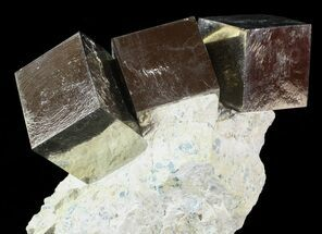 "4.1"" Wide, Natural Pyrite Cube In Rock - Navajun, Spain For Sale, #63215"