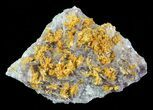 "2.1"" Orpiment With Barite Crystals - Peru - #63798-1"