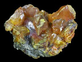 "1.5"" Orpiment Crystals on Matrix - Peru For Sale, #63809"